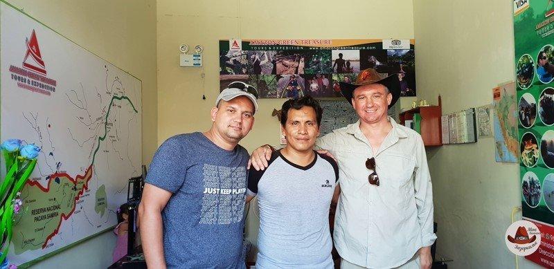Мой друг Андрей, Джим и я.После Амазонки. Через три часа улетаем в Лиму.