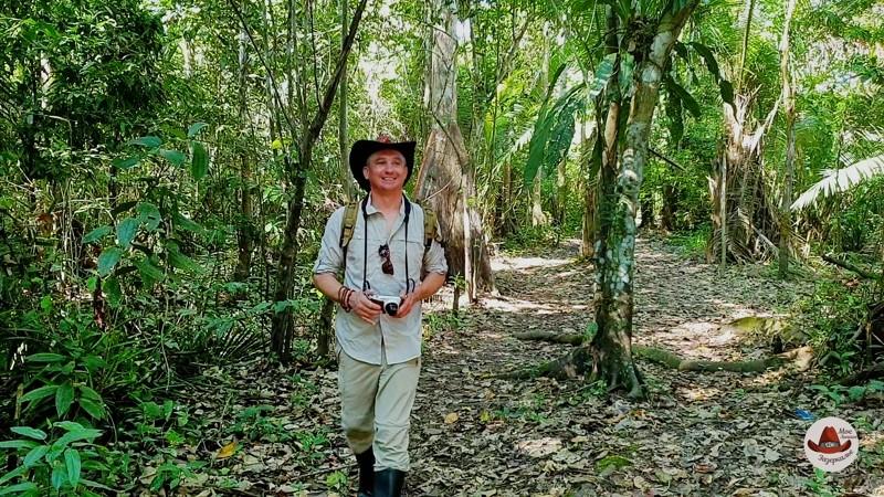 В настоящих джунглях.Предвкушаю рассвет на Амазонке.