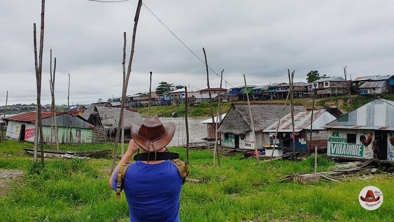 Дома на плотах. Приток Амазонки Итайя.