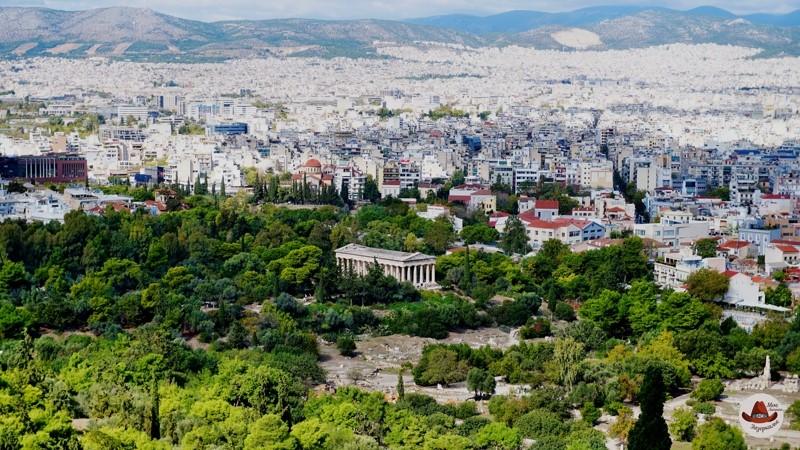 Храм Гефеста в АфинахВид с Парфенона.