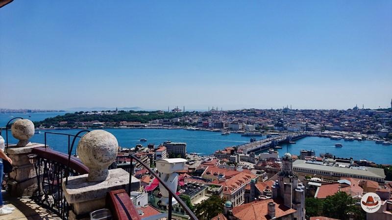 Вид на Стамбул с высоты Галатской башни